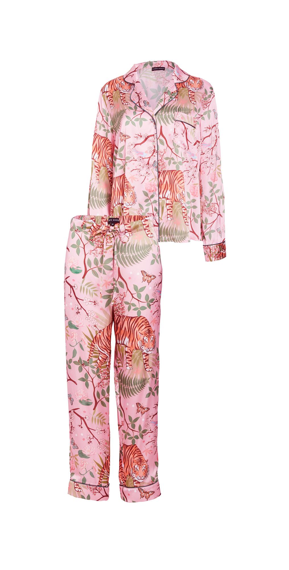 Tiger Blossom Pajama Set
