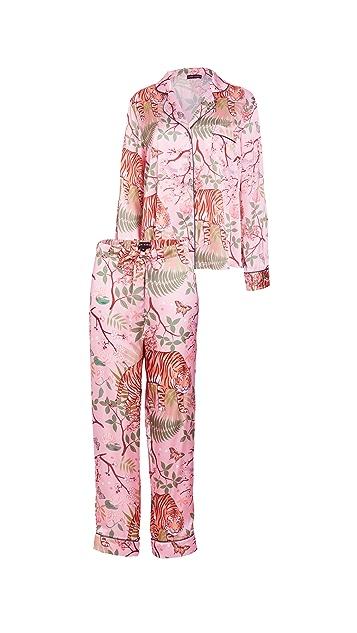 Karen Mabon 老虎花朵睡衣套装