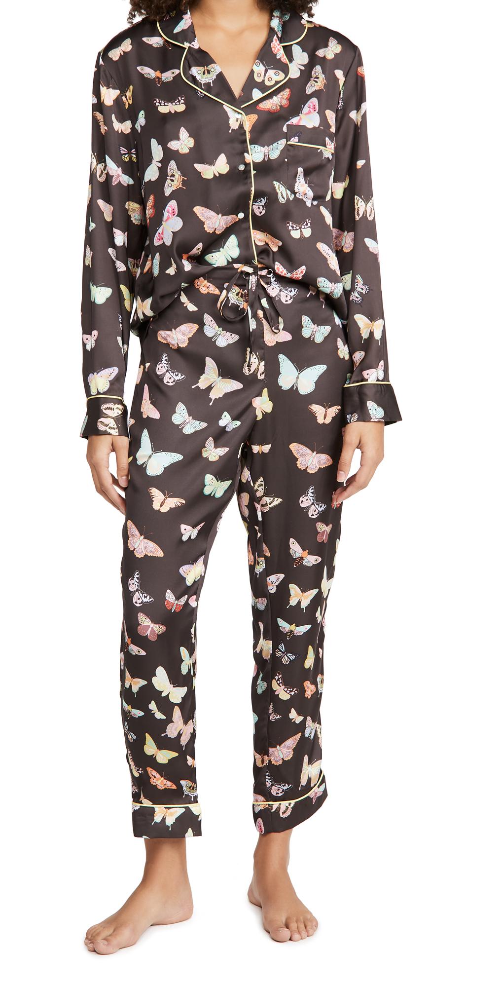 Karen Mabon Moths Long Pajama Set