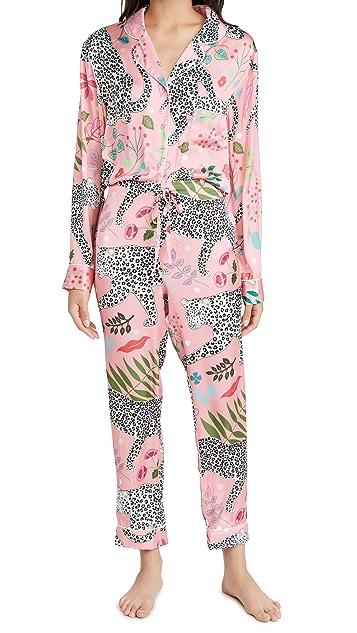 Karen Mabon Snow Leopard Long Pajama Set