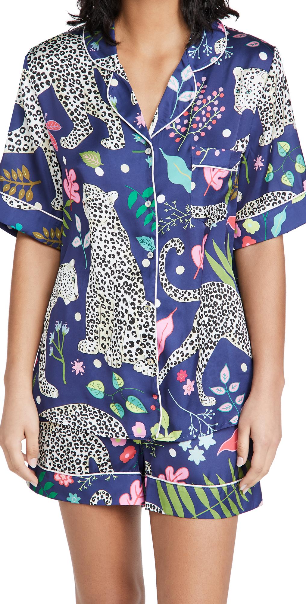 Snow Leopard Short Pajama Set