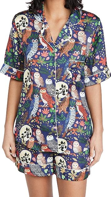 Karen Mabon Night Owls Short Pajama Set