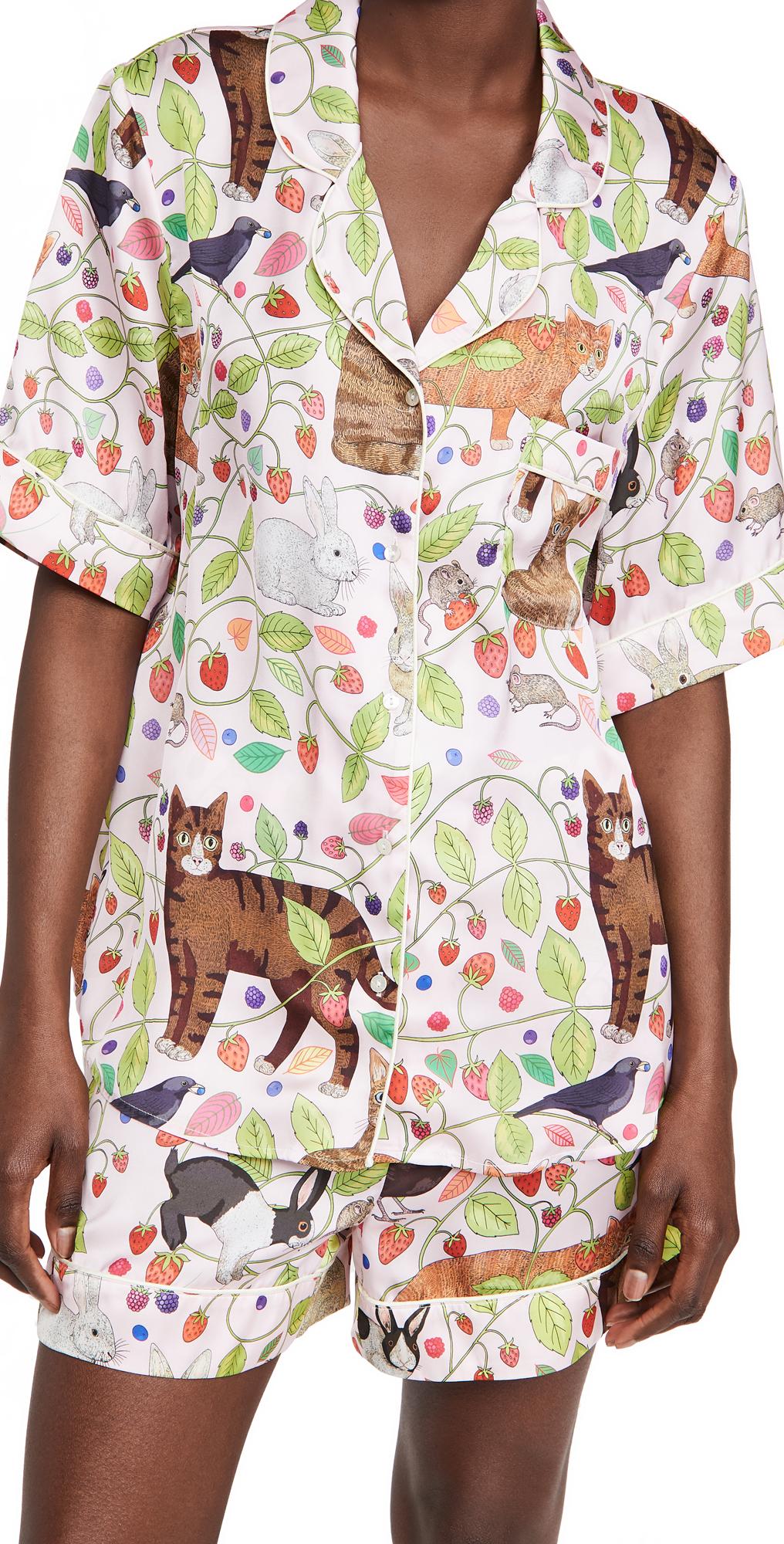 Karen Mabon Strawberry Fields Forever Short Pajama Set