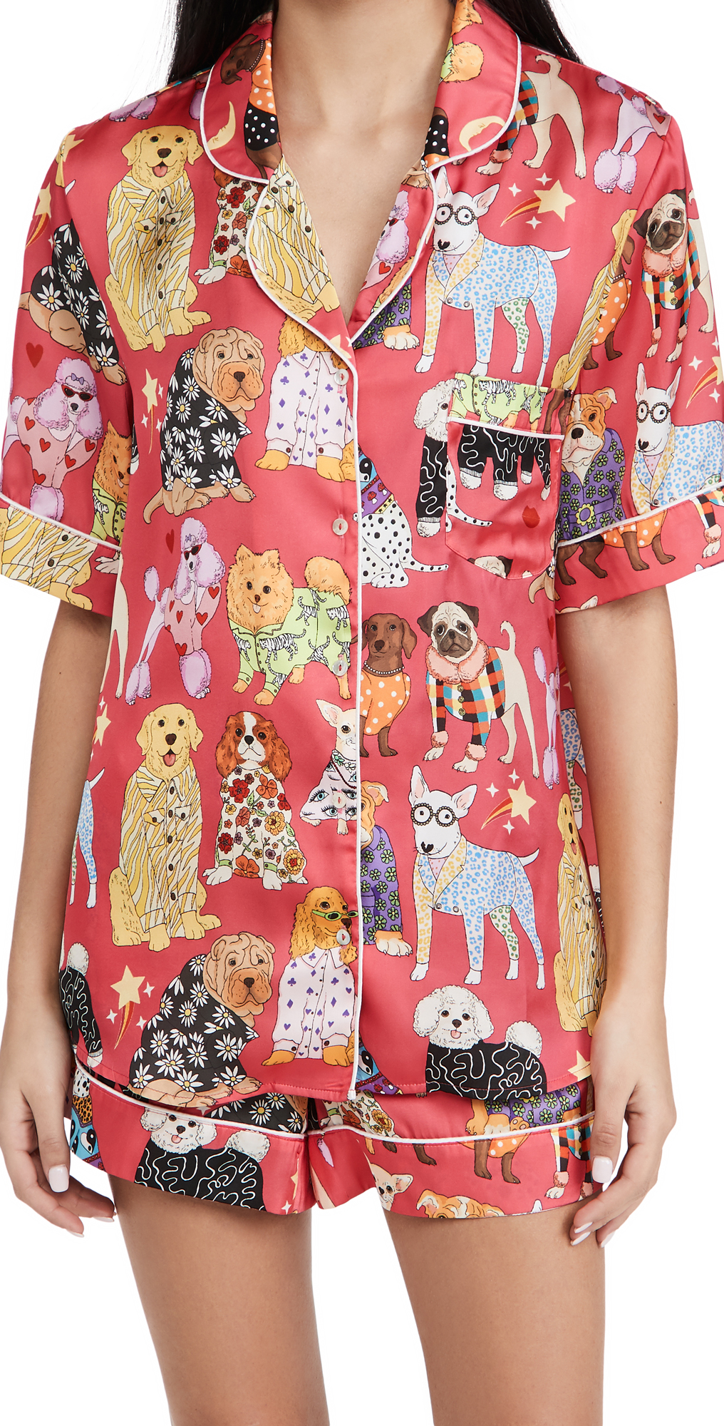 Fashion Dogs Pink Short Pajama Set