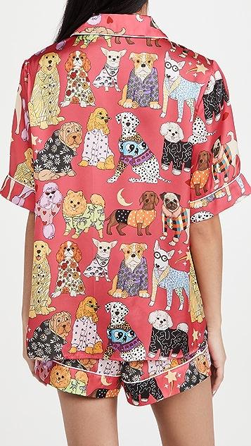 Karen Mabon Fashion Dogs Pink Short Pajama Set