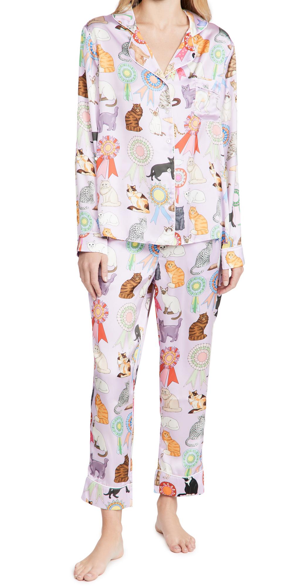 Cat Show Long Pajama Set