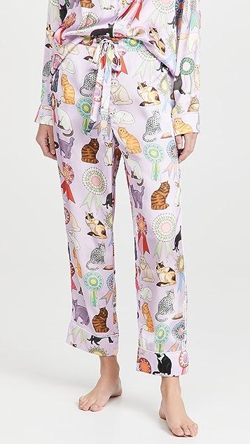 Karen Mabon Cat Show Long Pajama Set