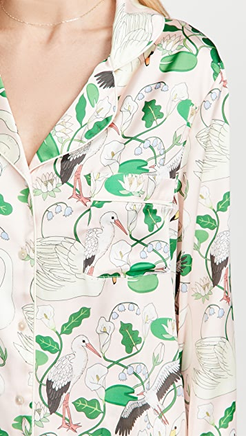 Karen Mabon Botanic Gardens Long Pajama Set