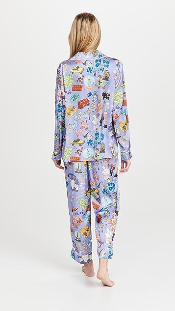 Karen Mabon Souvenirs Long Pajama Set