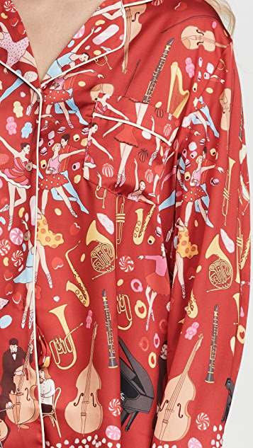 Karen Mabon Pantomime Long Pajama Set