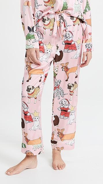 Karen Mabon 圣诞狗狗长睡衣套装