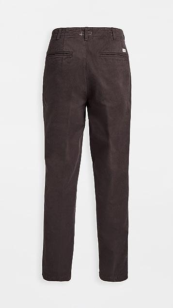 Knickerbocker Flat Front Tapered Twill Trousers