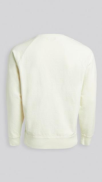 Knickerbocker Compact Knit Pigment Raglan Crew Sweatshirt