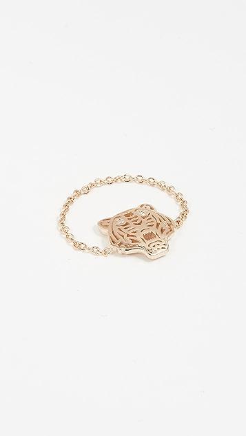 KENZO Mini Tiger Ring - Gold
