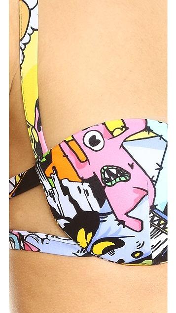 KENZO Cartoon Push Up Bikini