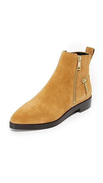 KENZO Flat Zip Suede Booties
