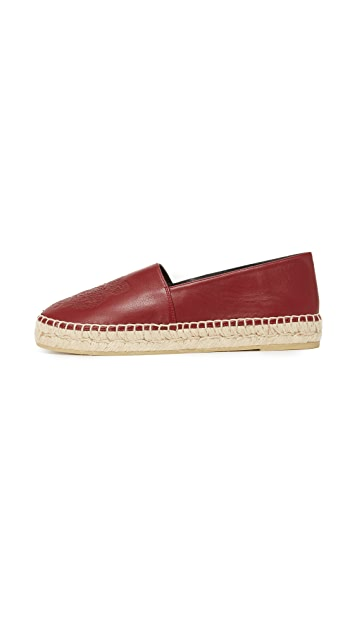 KENZO Leather Tiger Flat Espadrilles