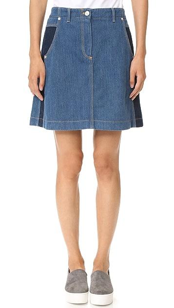 KENZO Stone Washed Denim Skirt