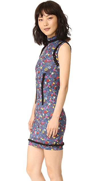 KENZO Tanami Flower Stretch Jersey Dress