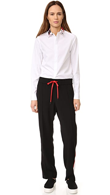 KENZO Embroidered Collar Button Down