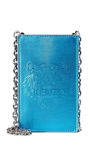 KENZO Metallic Phone Bag
