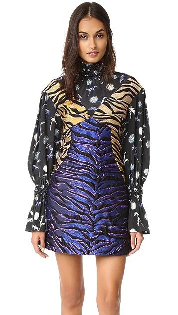 KENZO Tiger Striped Jacquard Dress