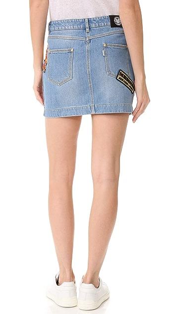 KENZO Stonewashed Denim Skirt