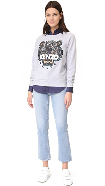 KENZO Snake x Tiger Embroidered Sweatshirt