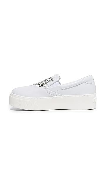 KENZO K-PY Platform Slip On Sneakers