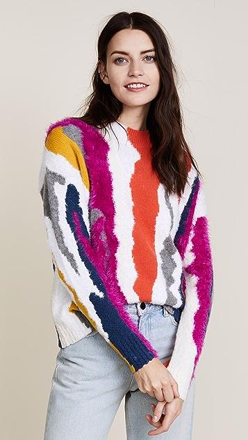 KENZO Round Collar Straight Sweater