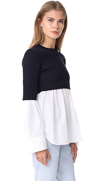 KENZO Long Sleeve Mix Knit Top