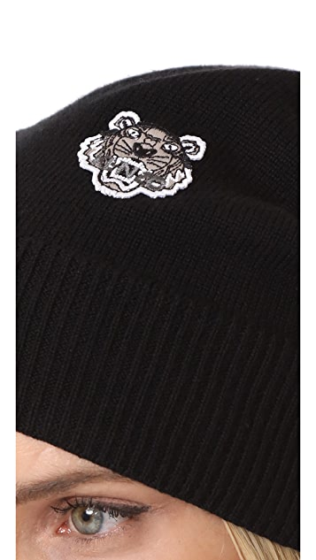 ... KENZO Tiger Crest Beanie Hat 6d3e0efc051