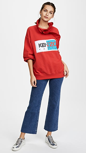 KENZO Ruffle Neckline Comfort Sweatshirt