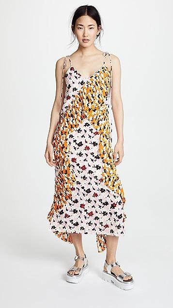 KENZO Ruffled Slip Dress