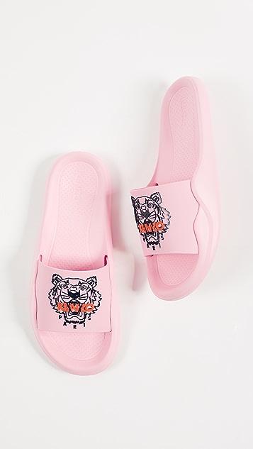 KENZO Tiger Pool Sandals - Flamingo Pink