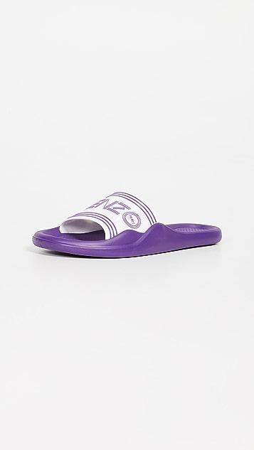 KENZO Pool Sandals - White