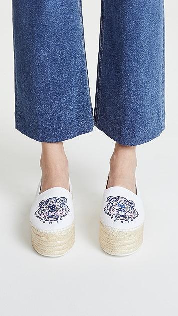 Kenzo Embroidered platform espadrilles PBlETWCN