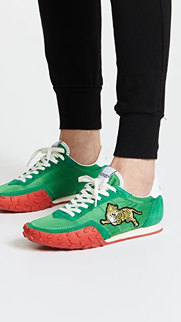 outlet footaction low cost cheap online Kenzo MOVE suede-trimmed sneakers sale with paypal lMjNuEFGS