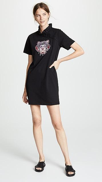 KENZO Tiger Ruffle T-Shirt Dress