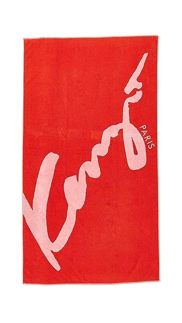 KENZO Signature Beach Towel