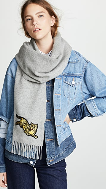 KENZO Jumping Tiger Stole Scarf