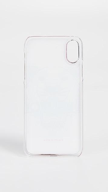 KENZO Coque iPhone X Silicon Tiger Case