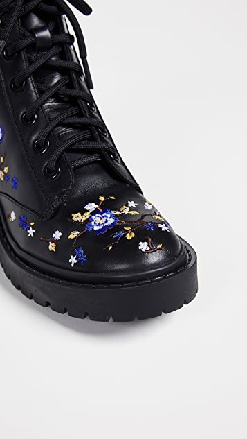 KENZO Pike Embroidered Boots