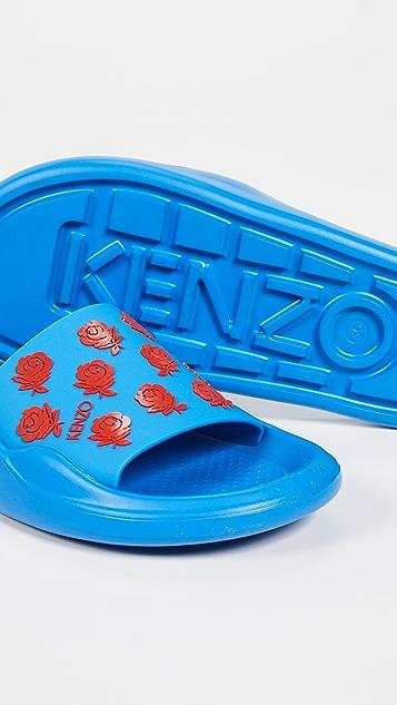 KENZO Flower Pool Slides