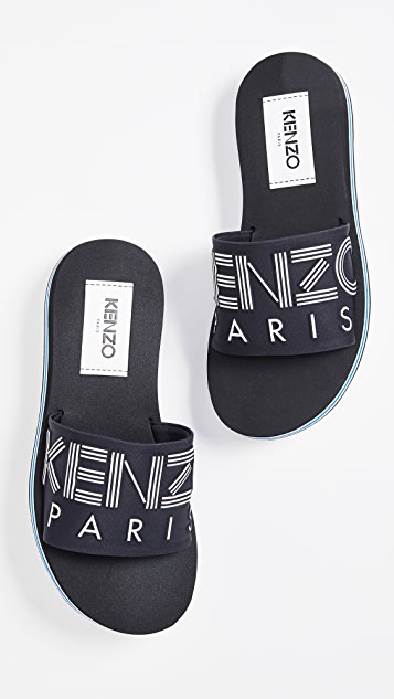 3390bc6c KENZO Papaya Flat Sporty Slides | SHOPBOP