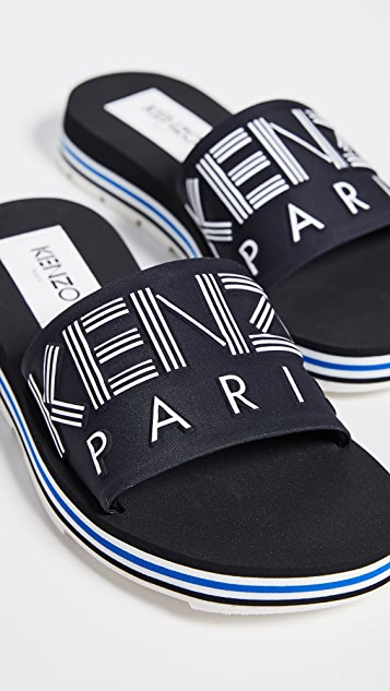 KENZO Papaya Flat Sporty Slides