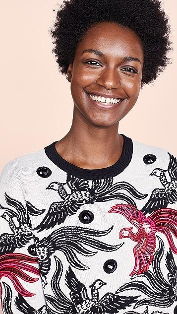 KENZO Жаккардовое платье-свитер Phoenix