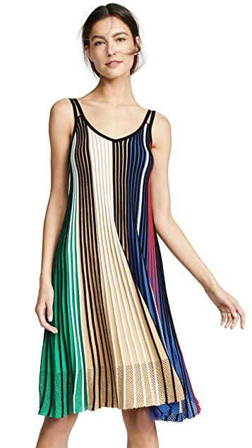 KENZO Vertical Ribs Sleeveless Dress