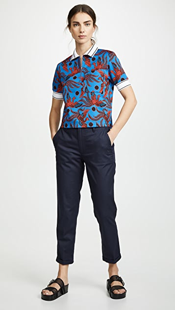 KENZO Zipped Short Sleeve Polo Shirt