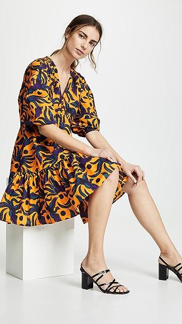 KENZO Платье с V-образным вырезом